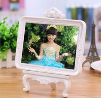 Wholesale embossing fashion design ABS plastic wedding photo frame with stand inch valentine s day gifts picture frame