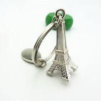 art ring platinum - 3D Eiffel Tower French Souvenir Fashion Keychains KeyChain Ring Keyring Keyfob Cute Adornment Eiffel Tower Keychain Christmas Gits Arts Gift