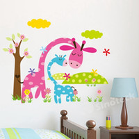 bathroom wall art and decor - Cartoon Animal Forest Wall Stickers Decals For Nursery and Kids Room Home decor d Wall Stickers For Kids Room Home Decorations Free DHL