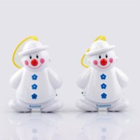 Wholesale 2pcs set New Lovely Snowman Wireless Baby Cry Detector Monitor Watcher Alarm alarm window alarm vibrating