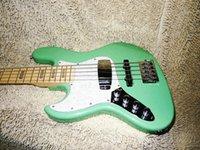 Precio de Guitarra de la mano izquierda verde-Guitar Factory left handed Bajo 5 cuerdas Bajo Verde backhand bajo China guitarra Nuevo estilo
