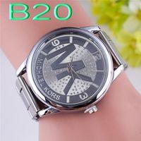 Wholesale Michael Kores MK style wristwatch watches LV GG MK Stainless Steel Watch Bands bracelet top brand luxury for men women Smilecn Watch NO12