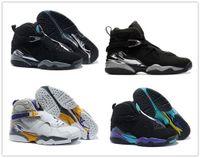 aqua brand shoes - 2016 Online High Quality Retro VIII Aqua Bugs Bunny Phoenix Playoffs Men Basketball Shoes Brand New Athletic Sport Sneakers Boots