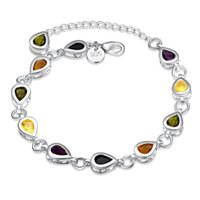 Bracelet de pierre de Zircon Impressionnant Troisième Style Argent Chain Link Bracelet Placage Argent 925 Bracelets Infinity Bracelets Accessoires Bijoux