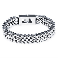 bicycle chain width - Man s Bicycle Wheat Chain Bracelets Casual Stainless Steel Double Layer Motorcycle mm Width cm Long Sports Men Jewelry cm