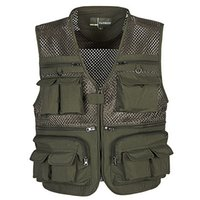 arrival reporters - New Arrival Multi pockets Outdoor Vest Men Professional Photography Cameraman Mesh Vest for Hunting Director Reporter Vests