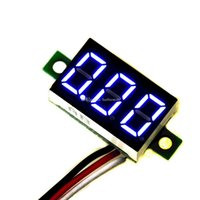 Wholesale Blue LED Display Mini DC V Digital Voltage Voltmeter Panel Motorcycle B00258 CADR
