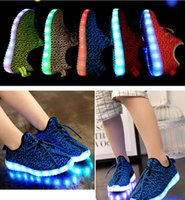 Cheap 5 Color kids West Yeezy 350 Boost LED Luminous sneakers Boys girls Boots Shoes Running Sports Shoes booties toddler shoes