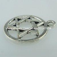 antique judaica - 15050 x Alloy Antique Star of David Judaica Pendant Jewish Symbol Magen David
