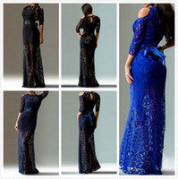 Wholesale Fashion Women Sexy Slim Lace Long Sleeve Maxi Dress Formal Prom Evening Party Long Dress colors