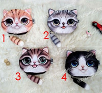 Wholesale Small Tail Cat Catton Purse Mini Coin Money Bag Wallet Animal Print Pouch Pocket Women Girl