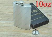 Wholesale With Funnel Stainless Steel Hip Flask oz oz oz oz oz oz Pocket Hip Flasks Flagon Ounce Whisky Stoup Wine Pot Alcohol Bottle