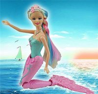 Wholesale Children Mermaid Toys Little Assembly Kit Fashion Princess Barbie Removable Creative Spin Swim Ariel Doll Gifts