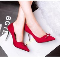 adorable kittens - 2016 new Adorable bowtie red prom gown dress shoes sexy high heel pumps microfiber green black size to
