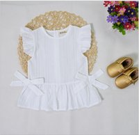 Wholesale INS Baby Childrens Girls Clothing Summer Girls Bow Cardigan Blouses Girl Kids Fashion Cotton Skirts for Girls Clothes
