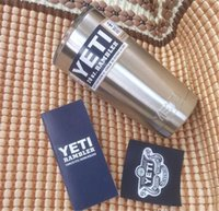 Wholesale YETI mug oz Cup Cooler YETI Rambler Tumbler For Travel Vehicle Beer YETI Mug Tumblerful Bilayer Vacuum Insulated Stainless Steel