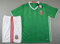 athletic sports apparel - 16 New Mexico home green soccer jersey men s thai quality football uniform men s outdoor athletic apparel short sleeve sports tracksuits