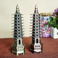 ancient china crafts - Metal materials crafts Chinese style tower Ancient Building Tower Model Arts and Crafts fashion accessories