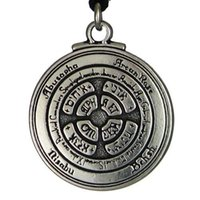Pendant Necklaces amulets and talismans - New Punk Amulet Pendant Talisman For Honor and Riches Pentacle Pendant Hermetic Enochian Kabbalah Pagan Wiccan Jewelry