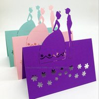 animal pack names - Pack of Laser Cut Purple Wedding Couple Dinner Place Cards Pearl Paper Guest Name Desk Card W46