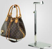 Wholesale 5pcs large base stainless steel metal women bag bracket display rack Tie wig purse handbag display stand holder