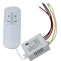 Wholesale Wireless ON OFF Ways V Lamp Remote Control Switch Receiver Transmitter for droplight crystal lamp modern low pressure lamp