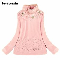 Wholesale 2016 Autumn Winter Thick Plus Velvet Child Flowers Baby Girls Long Sleeve School Lace White Shirts Tops Kids Girl Blouse JW0314