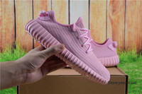 Cheap Adidas Yeezy Boots 350 Men Women Running Shoes Yeezys 350 Boost Cheap 2016 Hot Sale Sports Shoes Pink Size 5-11.5 With Box