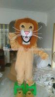 african door - Hot mighty African lion mascot brown suit to your door bring you happy lion mascot costume