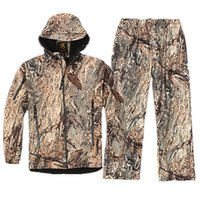 Wholesale Bionic Camouflage Jacket Jungle Men Jacket and Pant Waterproof Windproof Scratchproof Spring Autumn Hunting Suit