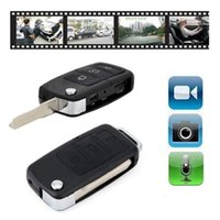 Wholesale Hot Sale Car KeyChain Camera Mini Spy Cam Hidden cameras Espia Micro DV DVR Video Recorder Camcorders Espiao