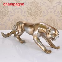 africa leopard - Classical FengShui decoration crafts creative Home Office Furnishing resin leopard sculpture ornaments high grade