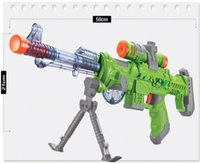 Wholesale The best selling high simulation of electron gun infrared plastic toy gun cool phantom brilliant stage lights Retractable barrel