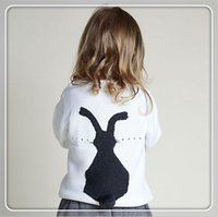 Wholesale Baby Sweater Spring Bobo Choses Girl Boys Back Rubbit Embroidery Sweaters Winter Pullover Casual Simple Knit Suit for m Y Tops