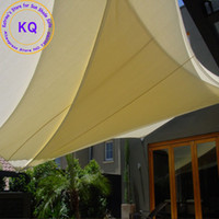 Wholesale x3x3 M Triangle Waterproof Sun Shade sail PU Coated UV protection with free ropes