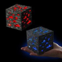 april plastics - Minecraft diamond ore light up Torch LED Minecraft lamp Redstone touch activated night light cube for kids toy gifts