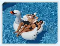 Wholesale 275cm Giant unicorn Inflatable Flamingo Ride On Pool Toy Float inflatable swan Swim Ring Holiday Water Fun Pool floating row
