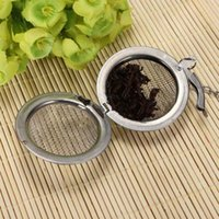 Wholesale 1Pcs Stainless Steel Infuser Strainer Mesh Locking Tea Ball Filter Spoon Filter