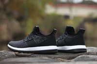 balck shoes - 2016 new arrive pure boost zg balck men and women running shoes size euro