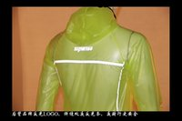 Wholesale Outdoor sports new fluorescent yellow raincoat at night