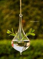 bamboo plants pots - Water Drop Terrarium Cute Glass Pots Air Plant Flower Pot cm Vases Hanging Wedding Decoration Blow Pots Terrarium