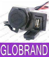 Wholesale 2016 New Motorcycle V USB Cigarette Lighter Power Port Integration Outlet Socket v usb power charge socket D GLO490