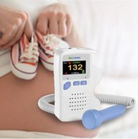 Wholesale Heath Care Pocket Fetal Doppler Baby Heart Rate Monitor Prenatal Ultrasoud Detector Fetal MHz Probe Built in Speaker