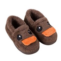 baby duck fabric - 2016 Winter Kids Shoes Cotton Padded Cartoon Duck Warm Baby Girls Boys Boots ndoor Home Furnishing Shoes Antislip Baby Shoes Footwear