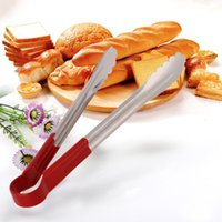 Wholesale 12 quot l Stainless Steel Cake Bread Tongs Food Clip BBQ Kitchen Tool Accessories Multi functional Cooking Tools