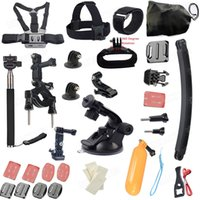 Wholesale Gopro accessories Set gopro case Chest Belt Head Mount Strap Go pro hero3 Hero4 Black Edition set Gopro accessories kit