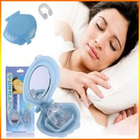 Wholesale Soft Silicone Anti Snoring Silicon Free Nose Clip Snore Stop Stopper Device Health Sleep Anti Snoring Quiet Night Sleepping