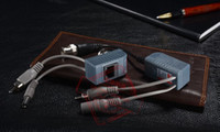 Wholesale 3in1 in1 ch Passive BNC Video Balun Transmitter Receiver For CCTV Camera UTP With Power Video Audio in M