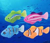 Wholesale Robo Fish Water Activated Battery Powered Robofish kids Clownfish Bath Toys children Robotic Fish Electronic pet drop shipping