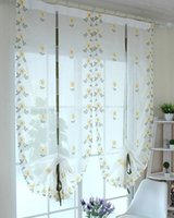 Wholesale Window Curtains Flowers Piece Roman Curtain Embroidered for Kitchen and Living Room x